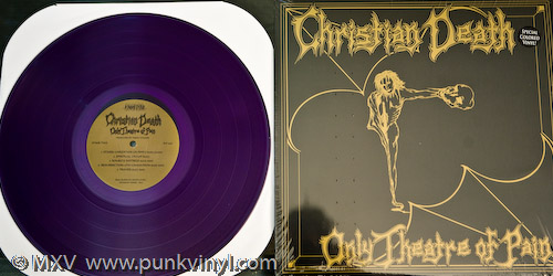 Christian Death - Only Theatre of Pain on transluscent purple vinyl