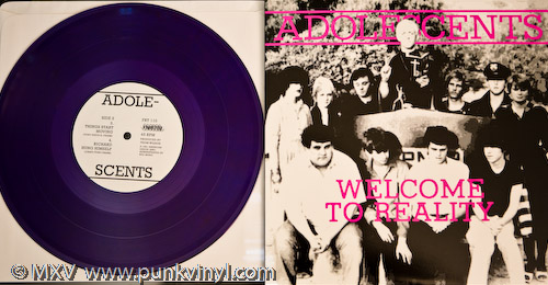 "Adolescents - Welcome to Reality 10"" on translucent purple vinyl"