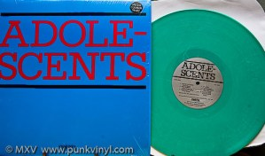 Adolescents green vinyl LP