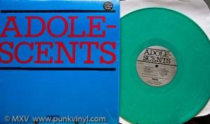 Adolescents green vinyl LP