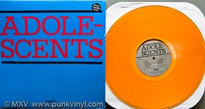 Adolescents LP on translucent orange vinyl