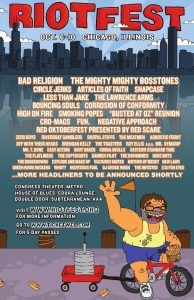 Riot Fest 2010 flyer