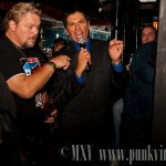 Shane Douglas and the ring announcer