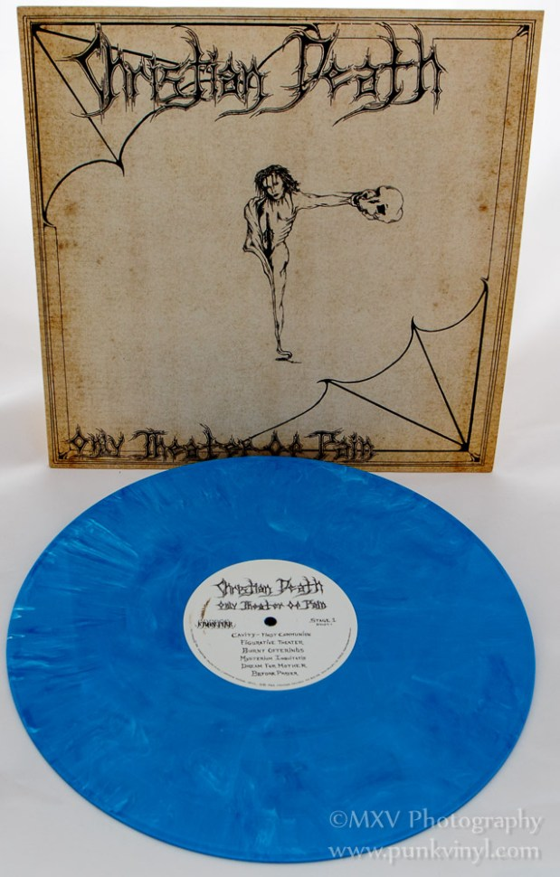 Christian Death LP blue marble vinyl