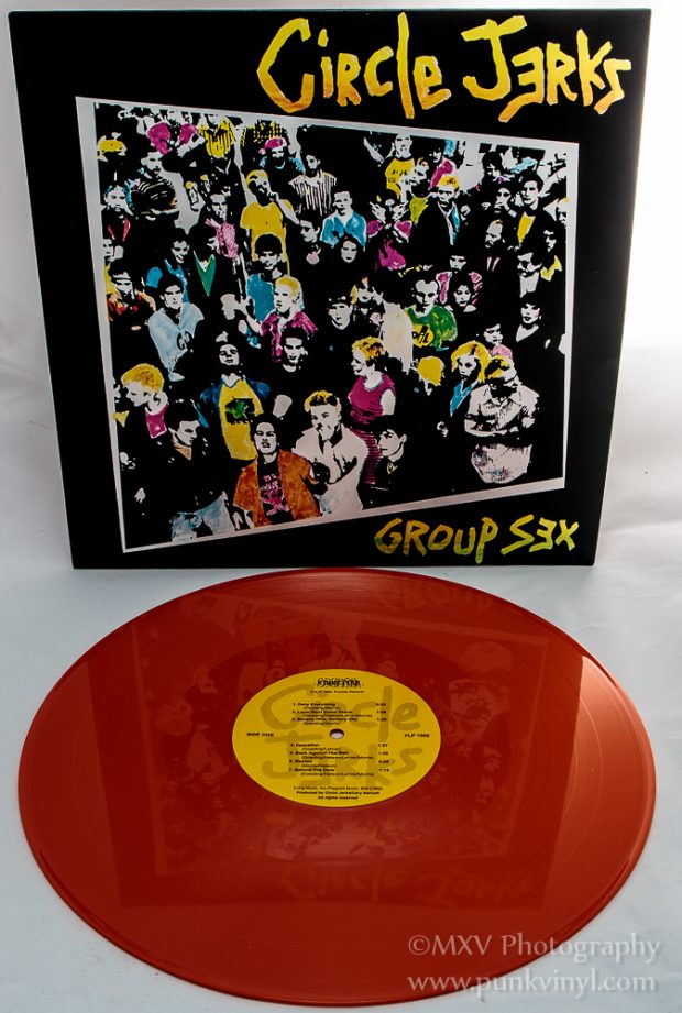 Circle Jerks - Group Sex orange vinyl