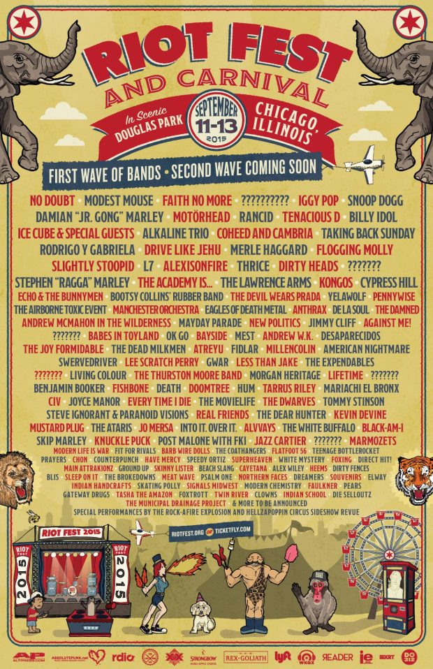 Riot Fest Chicago lineup