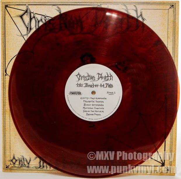 Christian Death LP bourbon vinyl