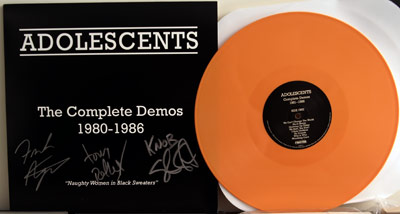 Adolescents demos LP signed edition