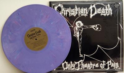 Christian Death LP on purple vinyl