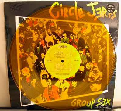 Circle Jerks - Group Sex LP on yellow vinyl