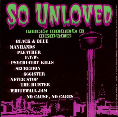 So Unloved CD